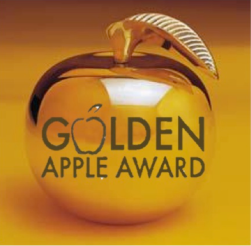 New golden apple logo take 1
